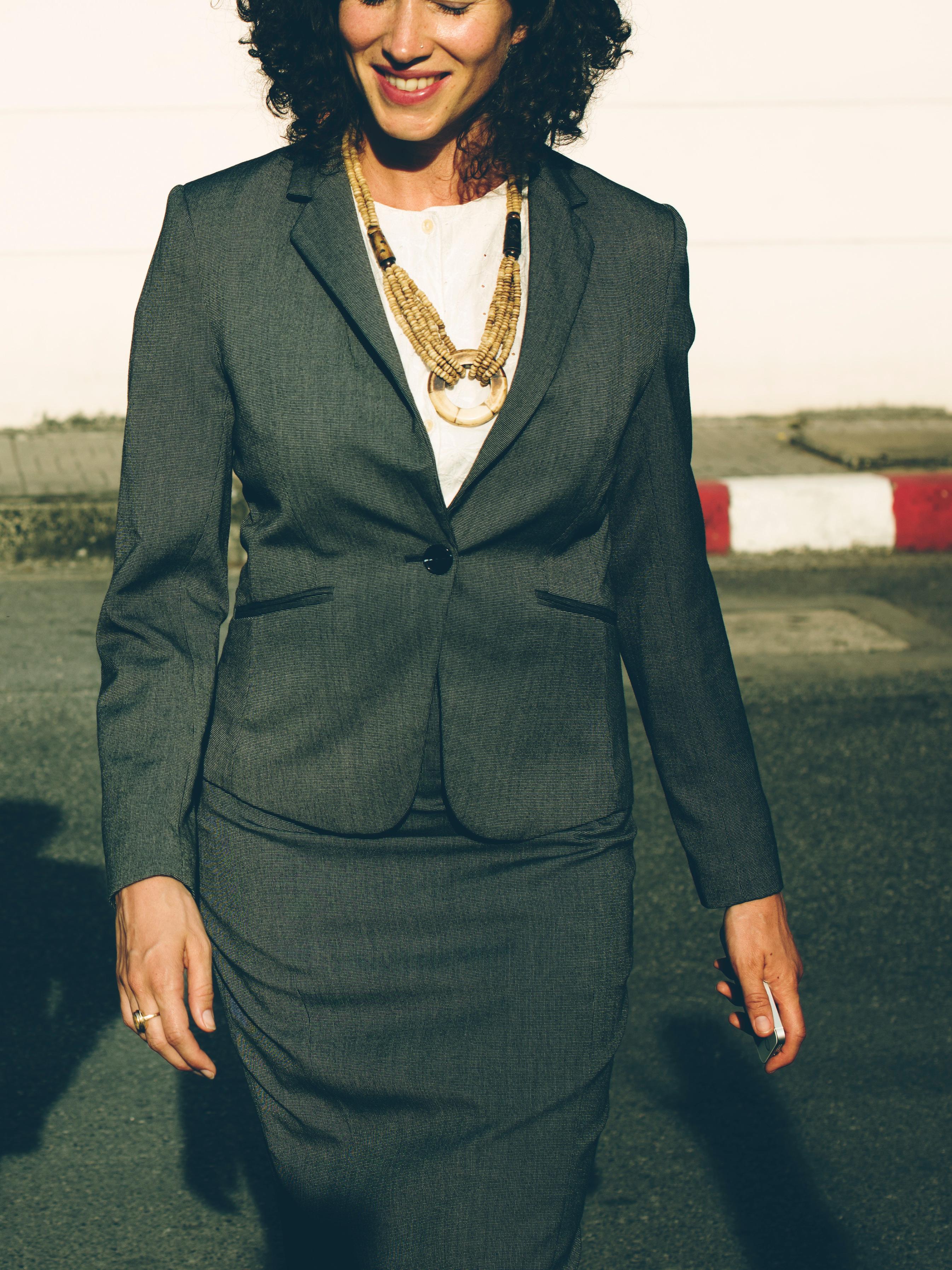 Woman wearing corporate wear